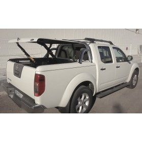 Couvre Benne Navara - Multiposition + Roll Bar Inox - (Double Cabine)