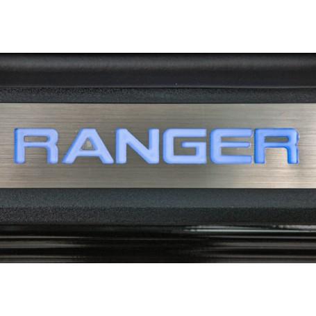Seuils de Portes Lumineux Ranger - Bleu - Double cab à partir de 2012