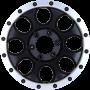 """Jantes Ranger - Alu 20"""" Yachiyoda - XJ-01 Black Matt Bord Polish"""