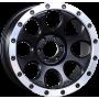 """Jantes Fullback - Alu 20"""" Yachiyoda - XJ-01 Black Matt Bord Polish"""
