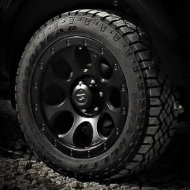 """Mitsubishi L200 Wheels - Alu 20"""" XJ-01 Black Matt - Tires"""