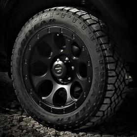 """Hilux Wheels - Alu 20"""" XJ-01 - Black Matt - Tires"""