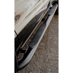 Navara Foot Walk - Black Tubes - (NP300 Double Cab from 2016)