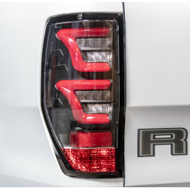 LED Lights Ranger - Black Background - Clear Glass