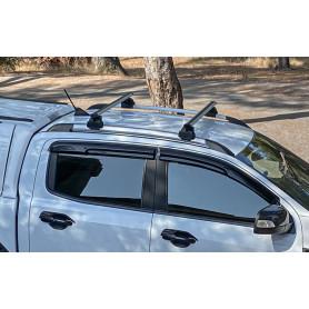 pour Ford Ranger 2019 Barres DE Toit pour Voiture 135 CM Barres D/ÉJ/À avec Rails Non ATTACH/ÉS COMPL/ÈTEMENT AU Toit Porte-Bagages en Aluminium HOMOLOGU/É