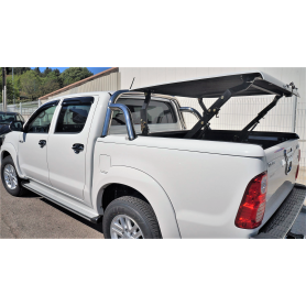 Couvre Benne Hilux - Multiposition + Roll Bar Inox - (de 2005 à 2015)